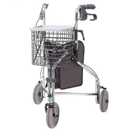 Invacare Delta - Andador de tres ruedas cromado: Amazon.es: Salud ...