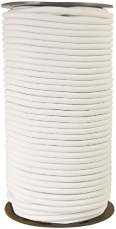 Juanya 1 mm, 100 m color blanco y negro Cuerda el/ástica para abalorios