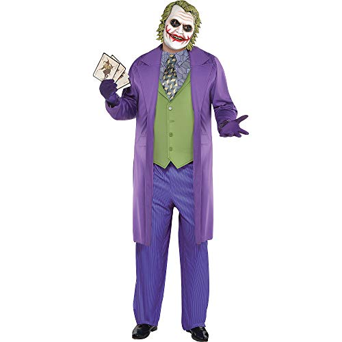 SUIT YOURSELF Joker Halloween Costume for Men, The Dark Knight, Plus Size, Includes -