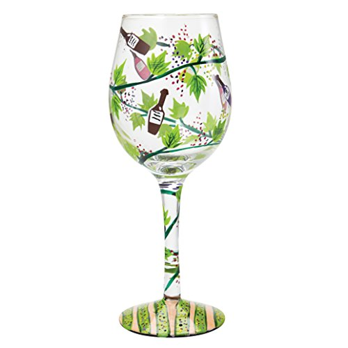 Lolita Wine Tasting Artisan Hand Painted Wine Glass