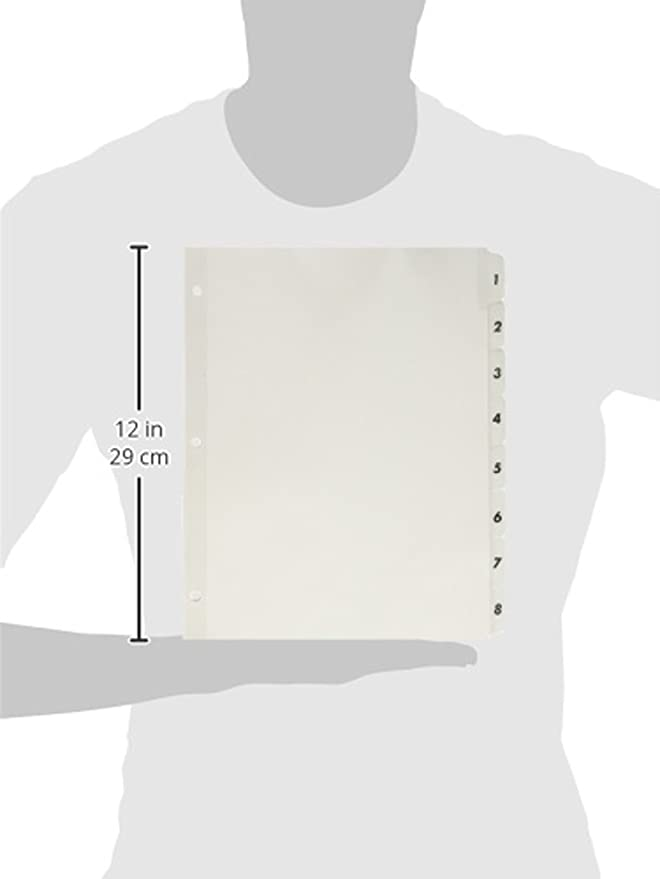 Amazon.com : S.P. Richards Company Index Dividers with Table of Contents, 1-8, 8 Tabs/ST, White (SPR05853) : Binder Index Dividers : Office Products
