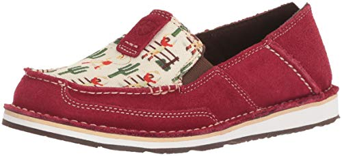 Ladies Vintage Shoes - Ariat Women's Cruiser Moccasin, Vintage Cowgirl/Cranberry, 7.5 B US