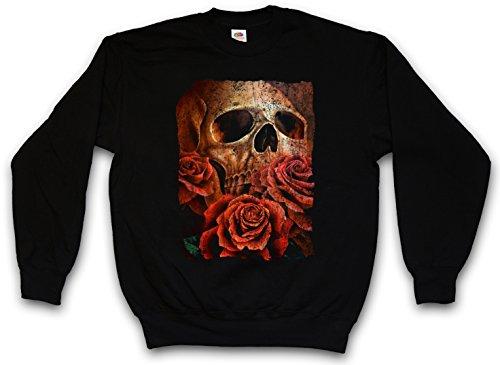 SKULL OF THE ERIC SWEATSHIRT PULLOVER PULLI – Roses Schädel Tattoo Totenschädel mit Rosen Death Dead Größen S – 3XL