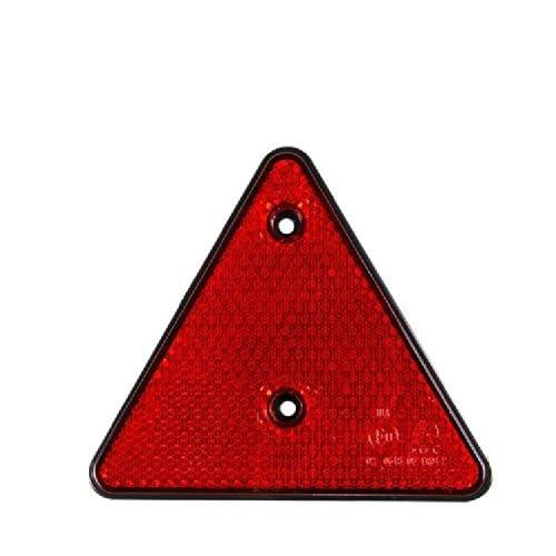 Lot de 2 Triangle Reflecteur de Signalisation Remorque Caravane - 15cm - ROUGE