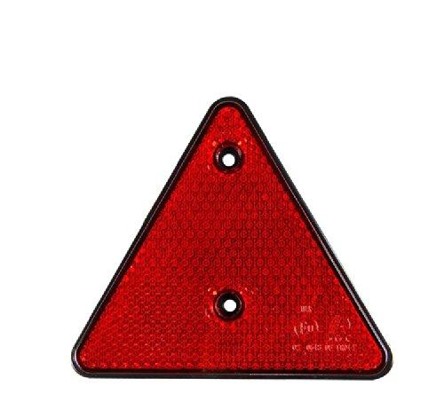 Lot de 2 Triangle Reflecteur de Signalisation Remorque Caravane ROUGE 15cm