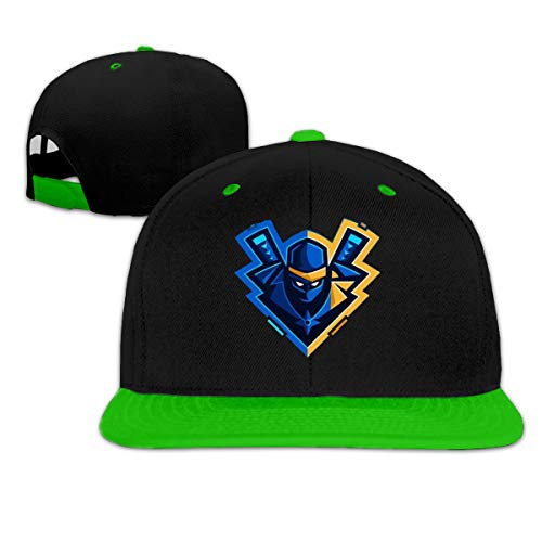 Ichenquxi Special Ninja YouTube Hip-hop Baseball Cap Hat Cap Unisex Green