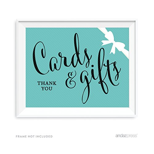 Andaz Press Party & Co. Collection, Cards & Gifts Party Sign, 8.5x11-inch, 1-pack, For Bride & Co, Baby & Co Inspired Birthday, Baby Bridal Shower, - Co And Tiffany Colors