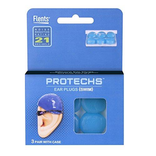 Flents Protechs Silicone Swim Ear Plugs (3 Pair) NRR 21