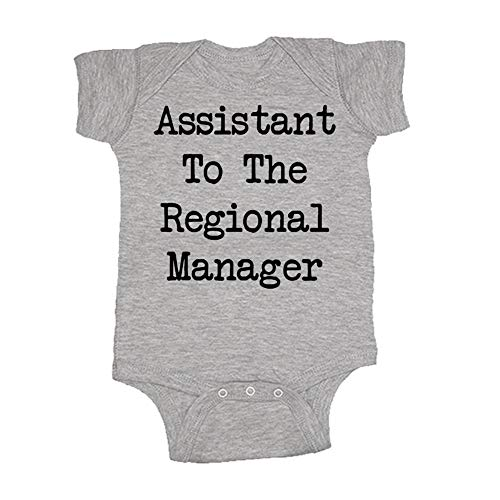 Assistant to The Regional Manager - Baby Bodysuit Add-On (Heather, Baby Add-On 12M)]()