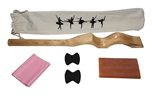 M&A Merch Wooden Arch Ballet Foot Stretcher Training Aid for Ballet, Dance, Gymnastics, Cheer, Yoga (Wood)