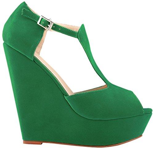 Toe Peep CFP Peep femme CFP Toe green tqUBwaIx