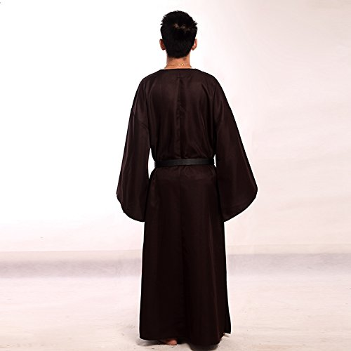 BLESSUME Medieval Wicca Pagan Ritual Robe with Belt