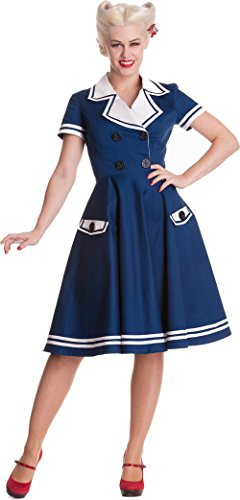 Bunny Matrosen Seafarer Sailor Damen Hell Blau Dress Kleid n8SavqxW