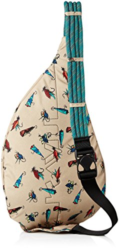 d0a6dce455 KAVU Rope Sling Bag 2 Made of 600D polyester making it water resistant  Adjustable rope shoulder
