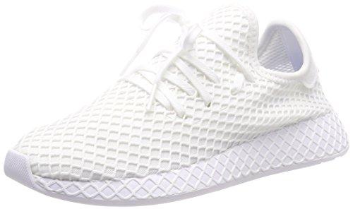 adidas Unisex Kids' 8 Gymnastics Shoes, Red White (Footwear White/Footwear White/Footwear White 0)