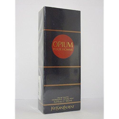 Yves Saint Laurent Opium pour Homme Eau de Toilette, 100 ml/ 3.3 fl oz (for men). (Black Opium Yves Saint Laurent For Men)