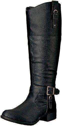 Black Pump Calf Boot (Rampage Women's Ivelia Fashion Knee High Casual Riding Boot, Black Wide Calf, 6 M US)