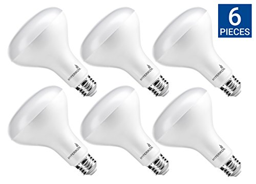 Hyperikon BR30 LED Bulb Dimmable, 12W (75W Equivalent), 4000K (Daylight Glow), Wide Flood Light Bulb, Medium Base (E26), UL & ENERGY STAR - Great for Garage, Kitchen, Basement, Laundry Room (6 Pack) Volt Br40 Flood
