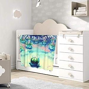 AOOEDM Baby Blanket Anime Bulbasaur Toddler Kids Blanket Super Soft Baby Blankets Cozy Crib Lightweight Comforter…