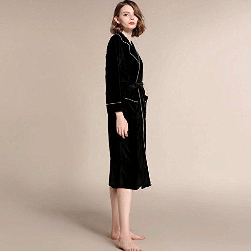 ZLR Autunno Inverno Stagione Lady Long Section Sleep Robe Accappatoio a maniche lunghe Allentato Abbigliamento da casa Accappatoio ( dimensioni : M )