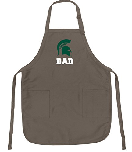 Broad Bay Deluxe Michigan State Dad Apron Official Michigan State University Dad Logo Aprons by Broad Bay