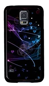 Butterfly flutters PC Case Cover for Samsung S5 and Samsung Galaxy S5 Black