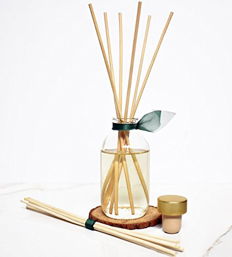 LOVSPA Birchwood Pine Reed Diffuser Set by with Wood Slice Coaster | White Pine, Fir Balsam, Birchwood & Amber Fragrance Notes | Woodsy Rustic Decor w/Scented Sticks | Great Gift Idea for Men! by LOVSPA (Image #2)