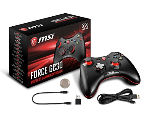 MSI FORCE GC30 Wireless Rechargeable Dual Vibration Gaming Controller for PC, Android and Sony PlayStation 4