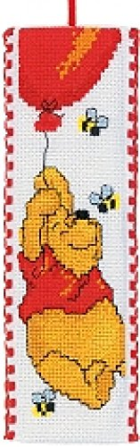 Vervaco Counted Cross Stitch Kit Bookmark Pooh