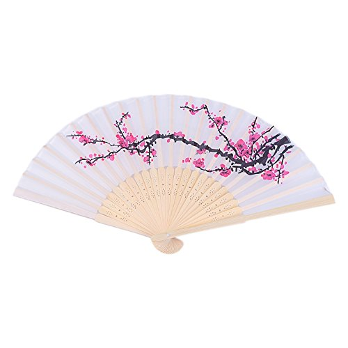 Kofun Hand Folding Fan Favors, Hand Held Plum blossom Hand Fans Perfect Christmas Party Favor Wedding Dancing Party Prom Decor 240 PCS by Kofun