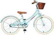 ACEGER Girls Bike with Basket, Kids Bike for 4-9 Years, 14 inch with Training Wheels, 16 inch with Training Wh