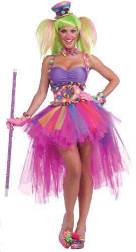 Forum Novelties Women's Circus Sweetie Lulu's Tutu Skirt, Multi, One (Lulu The Clown)