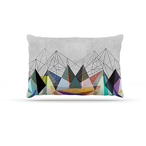Kess InHouse Mareike Boehmer colorflash 3X  Fleece Dog Bed, 50 by 60 , Grey Rainbow