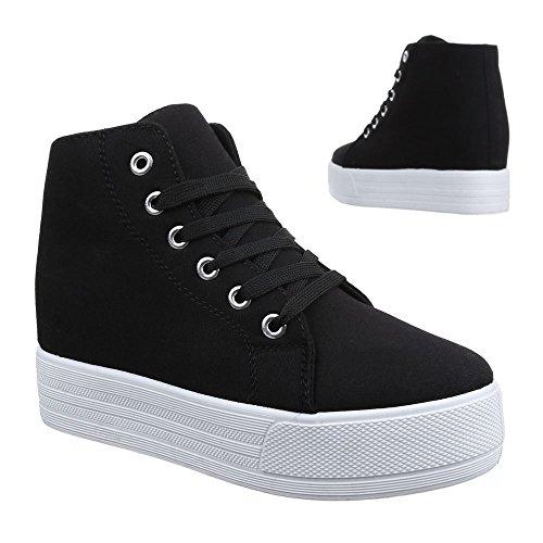 Ital-Design - Zapatillas altas Mujer , color negro, talla 40 EU