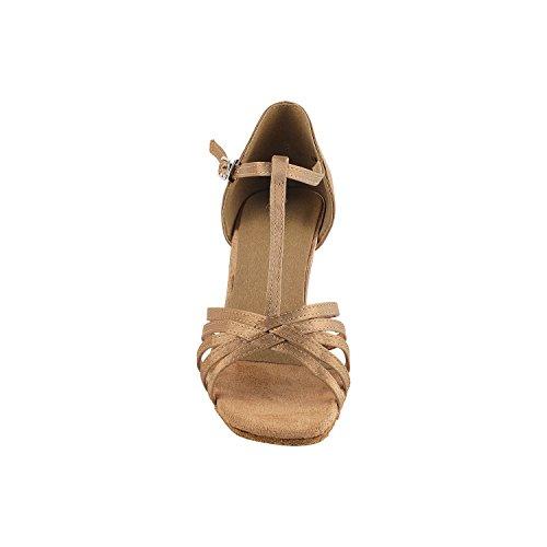 """Gold Taube Schuhe 50 Shades Of Tan Tanzkleid Schuhe Collection-III, Komfort Abend Hochzeit Pumps: Ballroom Schuhe für Latein, Tango, Salsa, Swing, Kunst von Party Party (2,5 """", 3"""", 3,5 """"Heels) 1612 Brauner Satin"""