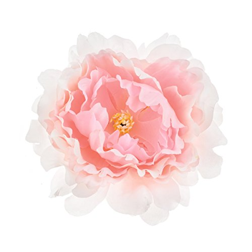 DreamLily Big Peony Flower Hair Clip Flamenco Dancer Flower Brooch Frida Kahlo Party Costume Peony Headpiece JZ13 (Baby Pink)
