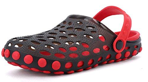 Athletic Clogs Slip (Beeagle Men Women Cute Garden Shoes Cartoon Slides Sandals Clogs Beach Slipper Red 41)