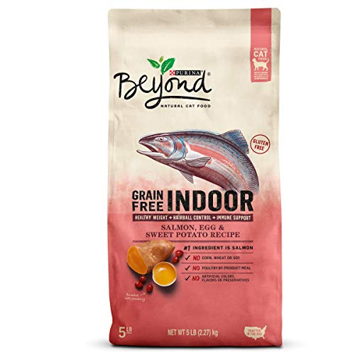 Purina Beyond Indoor Grain Free Natural High Protein, Salmon, Egg & Sweet Potato Recipe Dry Cat Food, 5Lb Bag