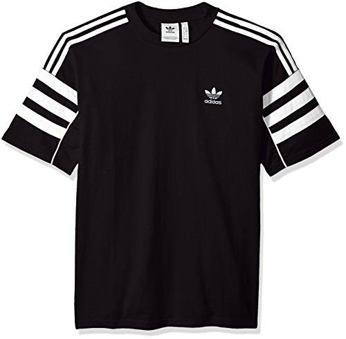 nera corta Adidas a M uomo Authentics Maglietta da Originals manica bianca qP8xHYYwE