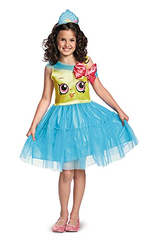 Cupcake Queen Costumes (Girls Shopkins Classic Cupcake Queen Costume size Medium 7-8)