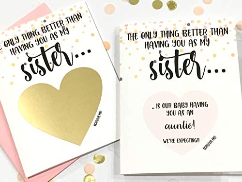 Pregnancy Scratch Off Card for Sister New Aunt ()