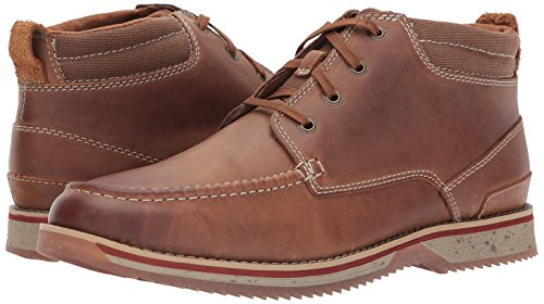 Clarks Men's Katchur Top Chukka Boot, Dark Tan Leather, 9.5 M US