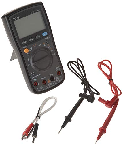 TOUGS M202 True-RMS Auto-Ranging Digital Multimeter Electricians Multi Tester with REL and Max Min Data Hold