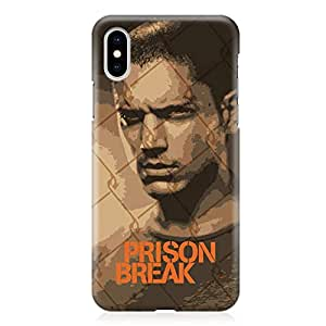 Loud Universe Case for iPhone XS Wrap around Edges Michael Scofield Tv Show Rugged Light weight Printed Edges iPhone XS Cover