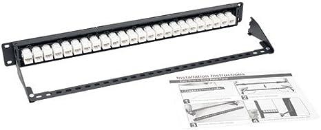 N254-024-SH-6A Tripp Lite 24-Port Cat6a Patch Panel STP Shielded RJ45 Ethernet 1U Rackmount TAA