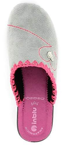 Da Donna Art Grigio 18 Ciabatte Invernali Pantofole Cf Inblu nxq7pF7