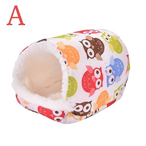 Ioffersuper 1 Pcs Pet Soft Pad/Bed/House/Nest Small Animal Cage For Hamster/Hedgehog/Rat/ (Hedgehog Supplies)