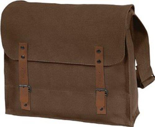 Vintage Shoulder Medic Bag (Brown, Plain) (Vintage Military Costumes)
