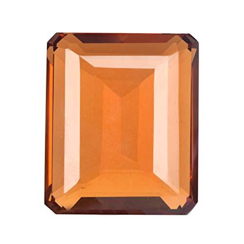 Citrine 134.00 Ct Emerald Cut Yellow Citrine, Jewelry Making Brazilian Citrine Gemstone for Pendant