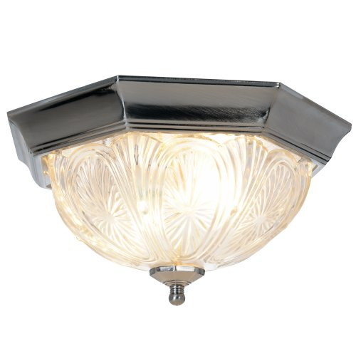 Royal Cove 671367  Decorative Octagon Shaped Ceiling Fixture, Pewter, 12 In.